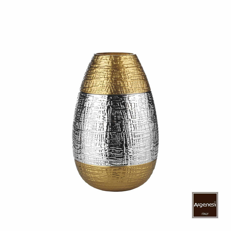 Glass Vase (Gold & Silver) 1 Pcs