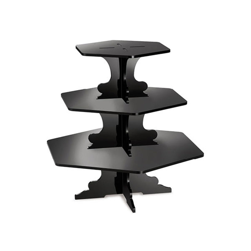 Garibaldi Sons Co Acrylic 3 Tier Stand Black