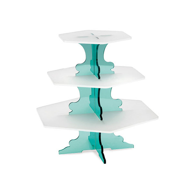 Garibaldi Sons Co Acrylic 3 Tier Stand Blue
