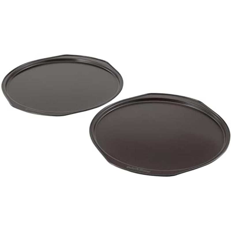 Bakers Secret Essentials Black Pizza Pan Bakeware Steel (2 Pcs)