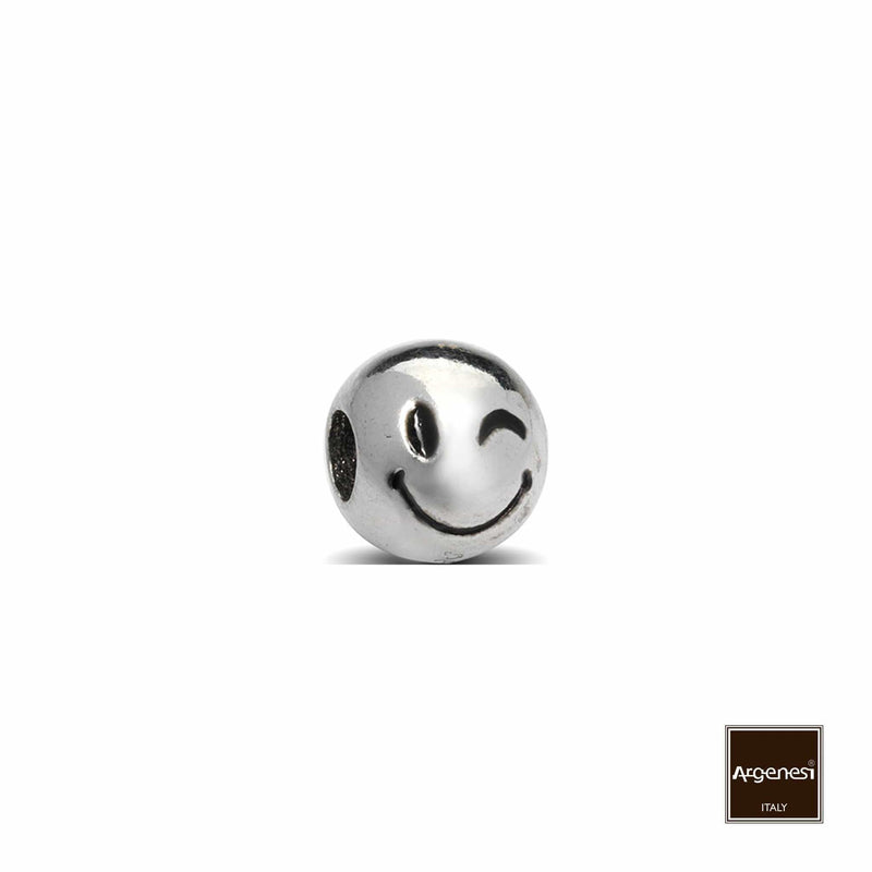 Emoticons Smiley Charm (Silver) 1 Pcs