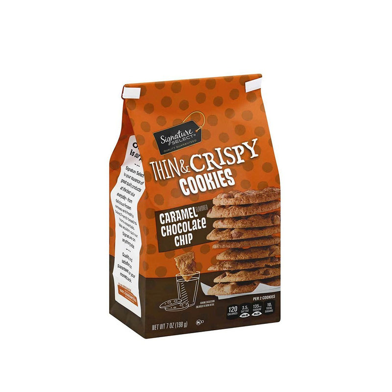 Signature Select Cookies Thin & Crispy - Caramel Chocolate Chip 198 g