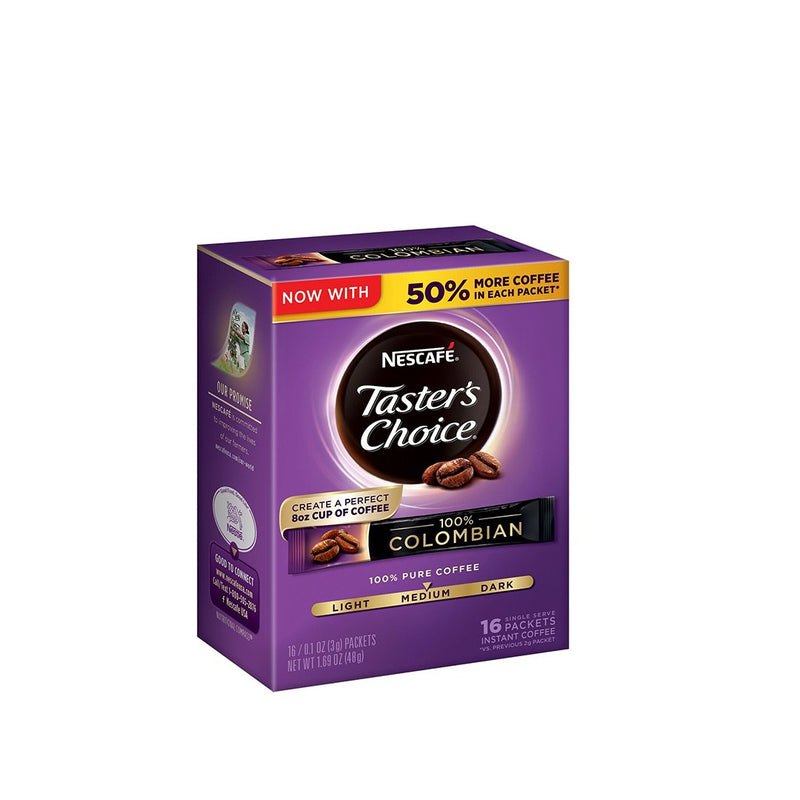 Nescafe Colombia Taster's Choice Coffee 16 Packs 48 g