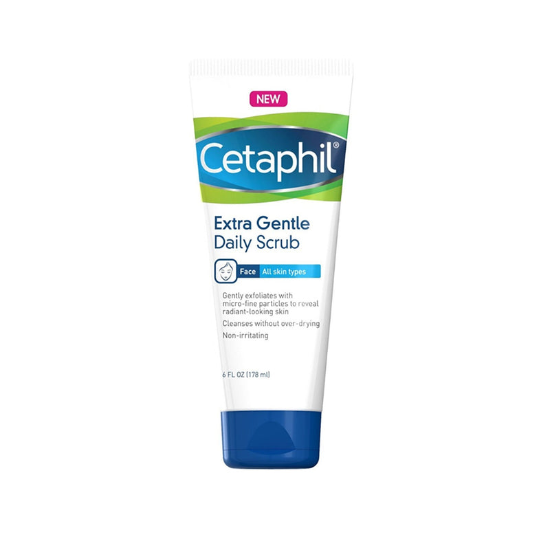 Cetaphil Extra Gentle Daily Scrub, Exfoliating Face Wash For Sensitive And All Skin Types, 6 Oz (177 ml)