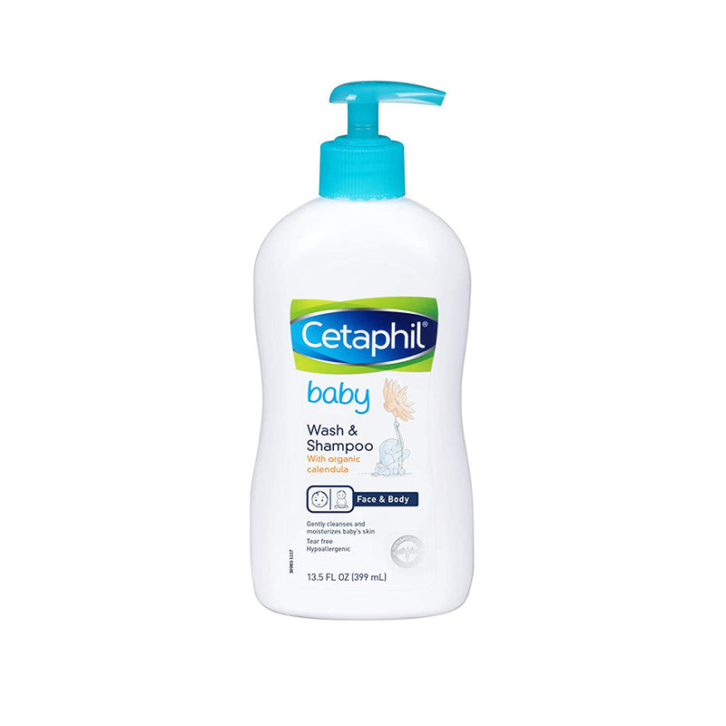 Cetaphil Baby Wash & Shampoo with Organic Calendula |Tear Free | Paraben, Colorant and Mineral Oil Free  | 13.5 Fl. Oz (399 mL)