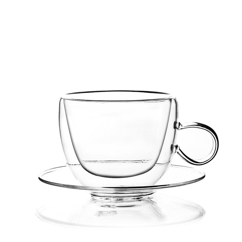 Wisteria Double Wall Mugs and Saucers 200 ml Set of 4 pcs