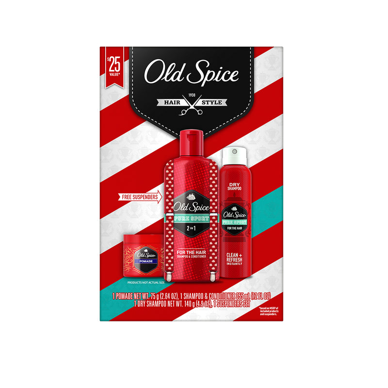 Old Spice Hair Style Pure Sport 4-Pieces Holiday Set