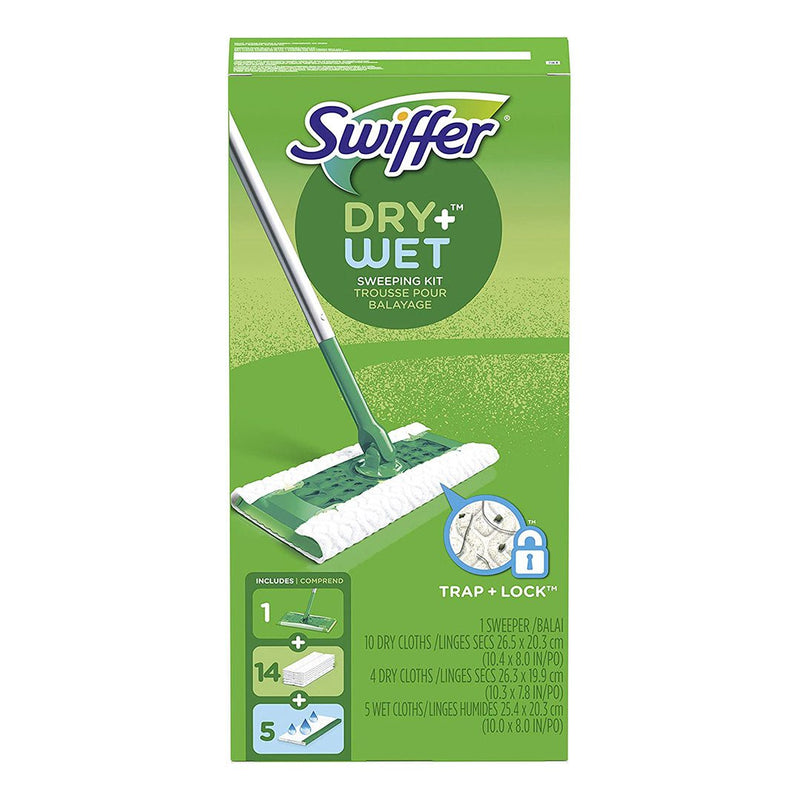 Swiffer Sweeper Dry & Wet All Purpose and Cleaning Starter Floor Mopping