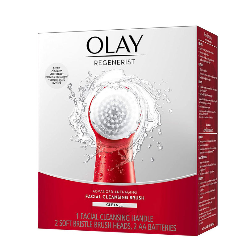 Olay Regenerist Facial Cleansing Brush with 2 Brush Heads