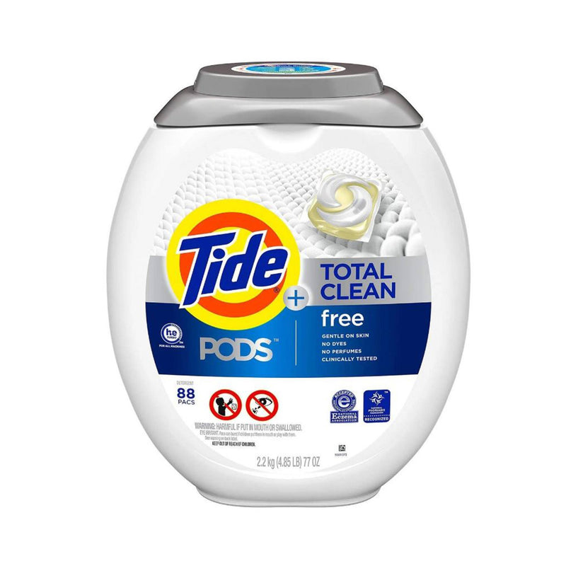 Tide PODS Total Clean Laundry Detergent Sensitive Skin - Unscented (88 Pods)