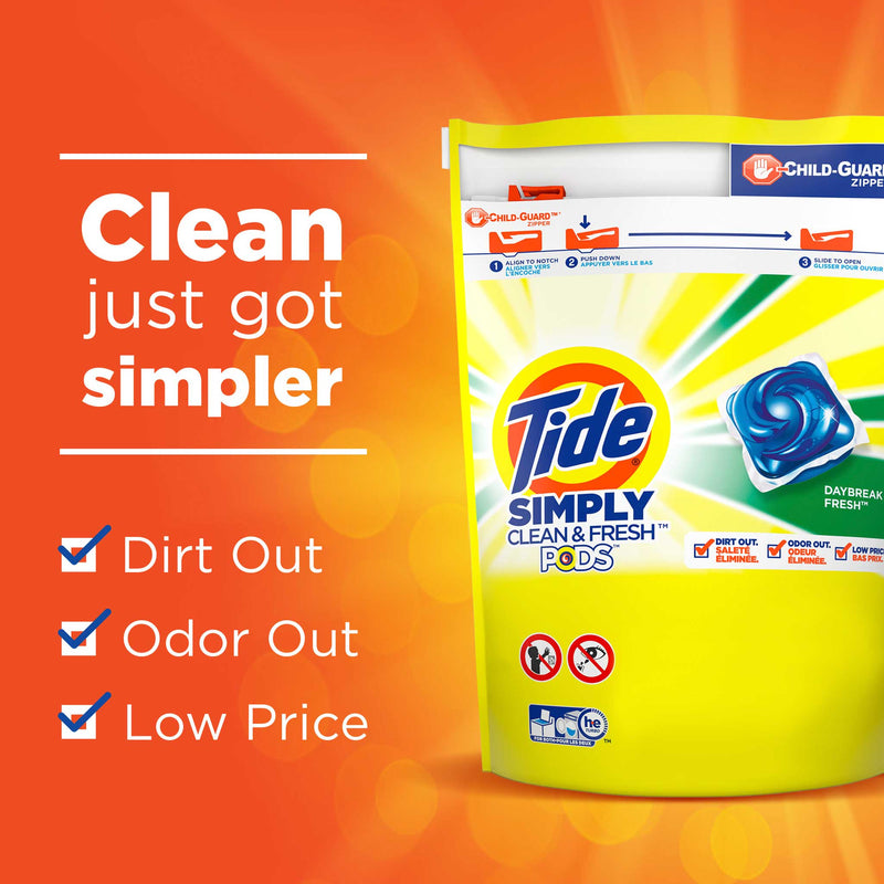 Tide Pods Simply Clean & Fresh - Refreshing Breeze