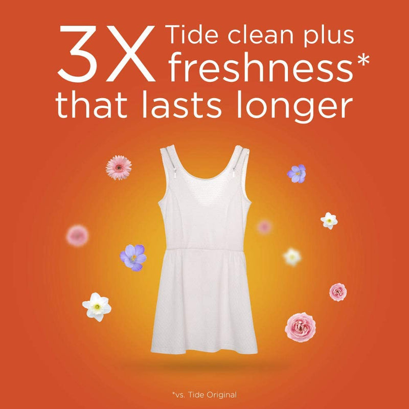 Tide Liquid Laundry Detergent with Febreze Freshness - Spring & Renewal (4.08 L)