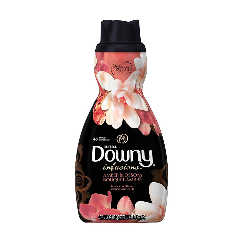 Ultra Downy Infusions Amber Blossom Liquid Fabric Softener and Conditioner (1.23 L)