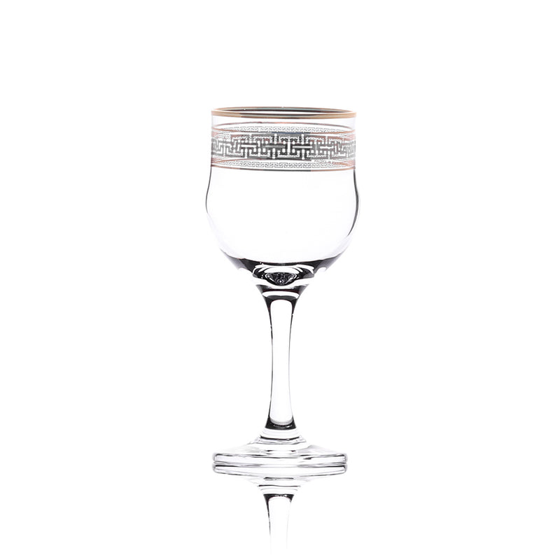 Glass Stemware set Minerva Gold and Platinum 240 ml set of 3 pcs