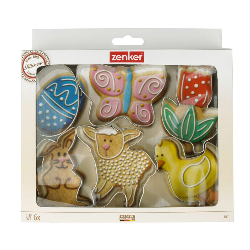 Dr. Oetker by Zenker Patisserie Set Of Easter Cookie Cutters- Tinplate- (6 Pcs)
