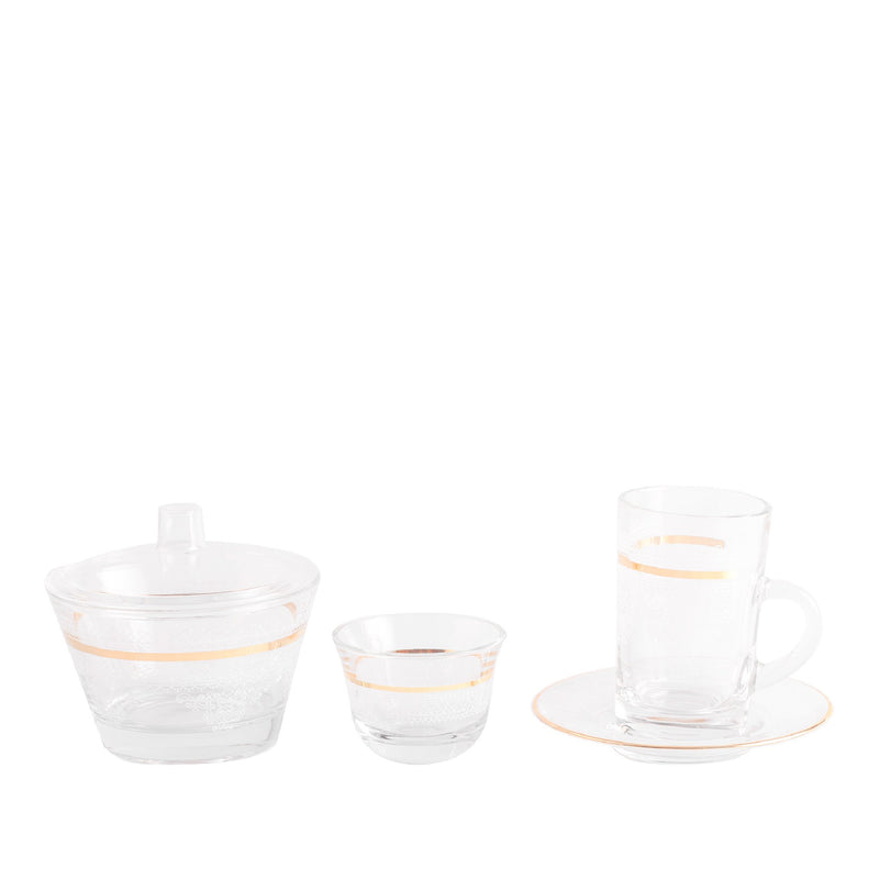 Set of 20 Pcs Assorted Drinkware (Gold)