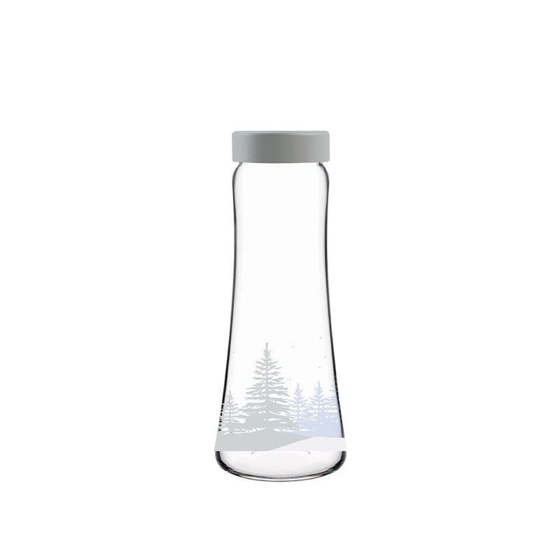 Pasabahce Decorated Gray Bottle (1 Pc)