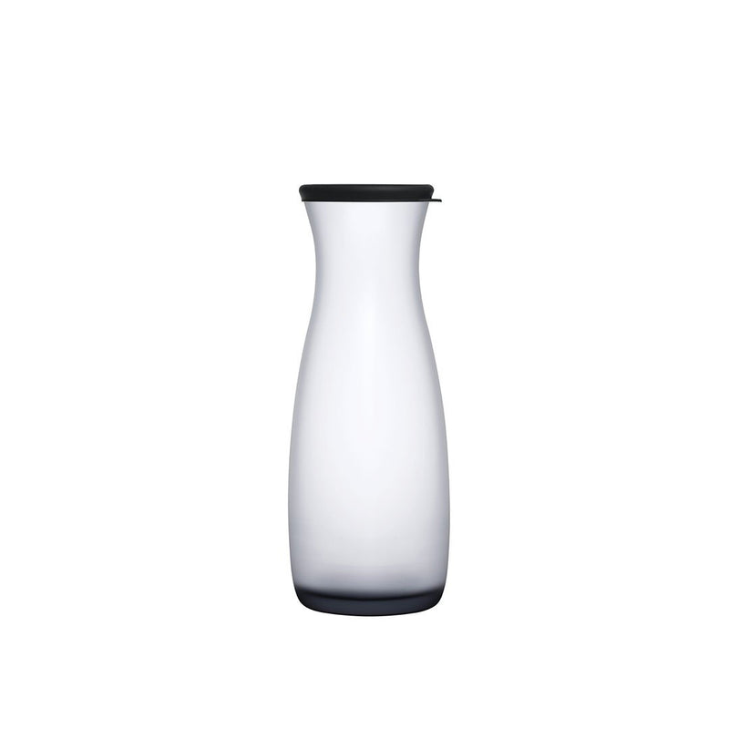 Pasabahce Black Glass Carafe with Lid