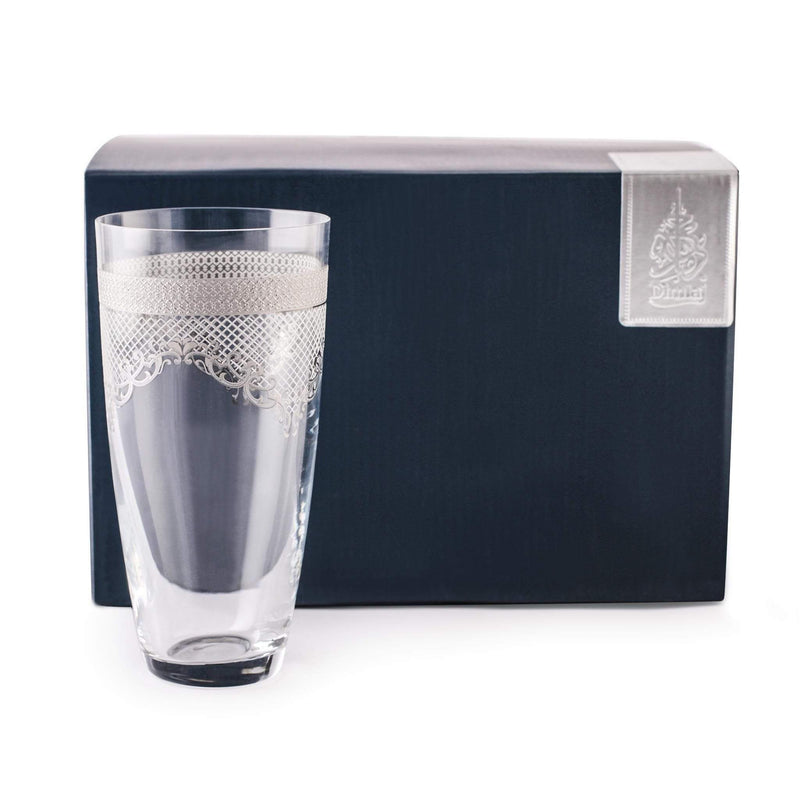 Dimlaj Set of 6 Pcs Highball Tumblers (Platinum)