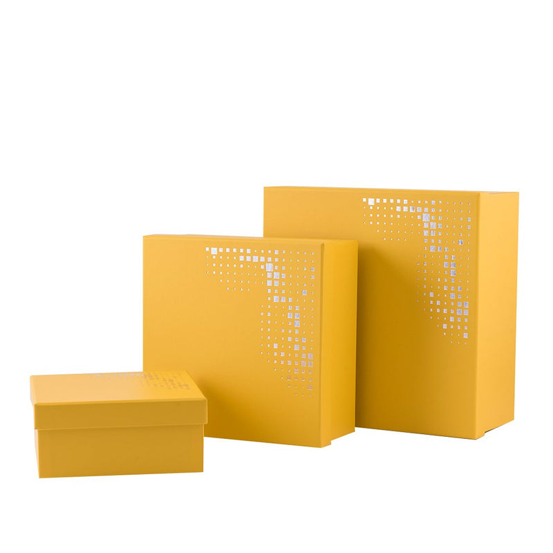Dimlaj Yellow Squared Gift Box