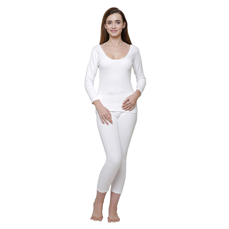 Body Care Insider Women's White Thermal Outfit 105 cm