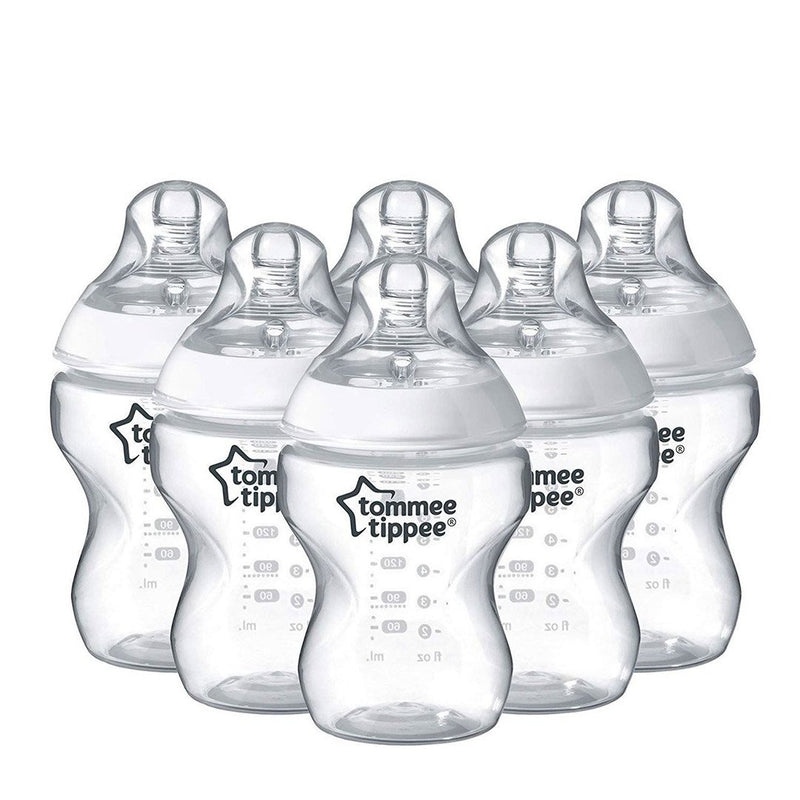 Tommee Tippee Closer to Nature (260 ml) Bottles - Set of 6