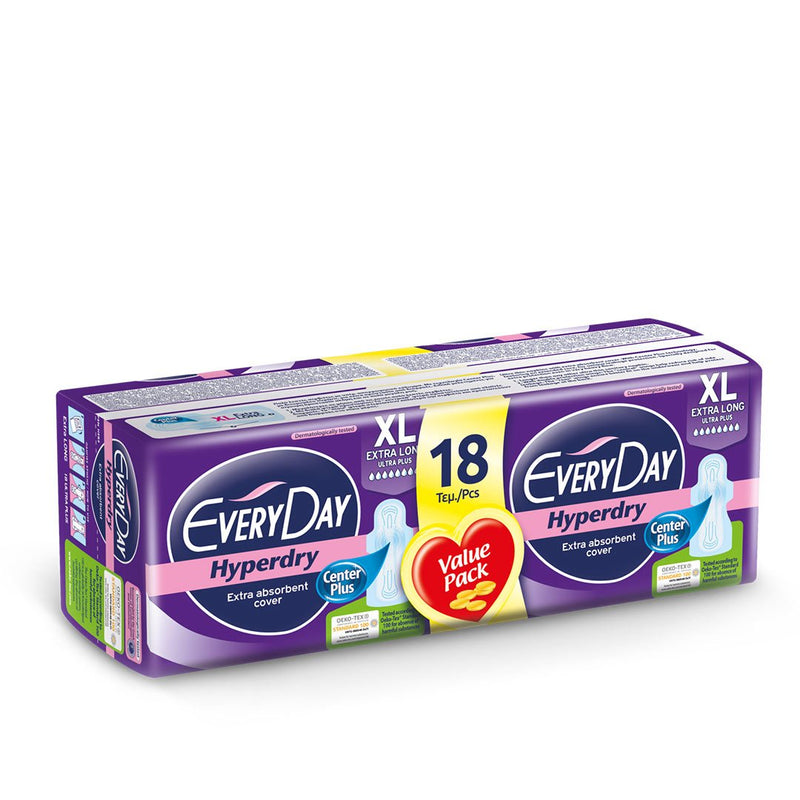 EveryDay Hyperdry Pads Ultra Plus Extra Long - 18 pads