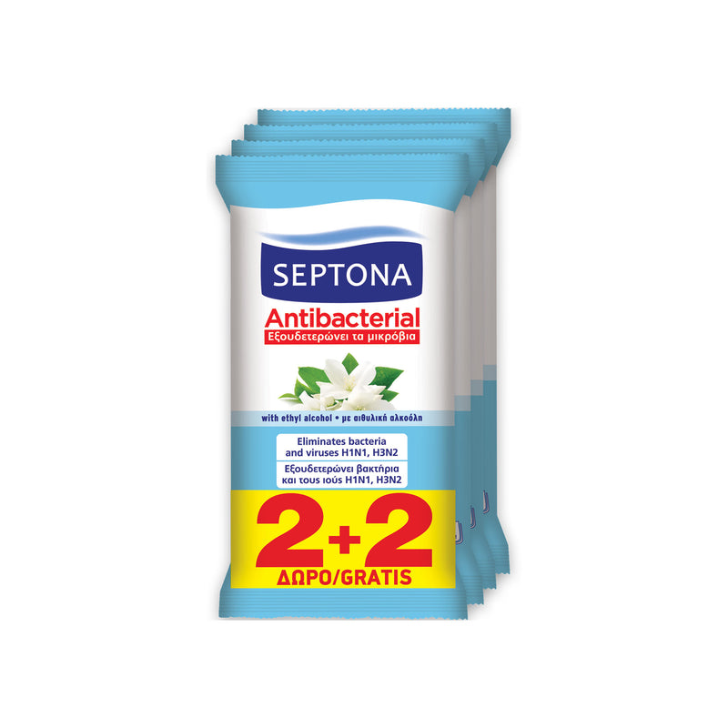 Septona Antibacterial Wipes Jasmine 4*15pcs