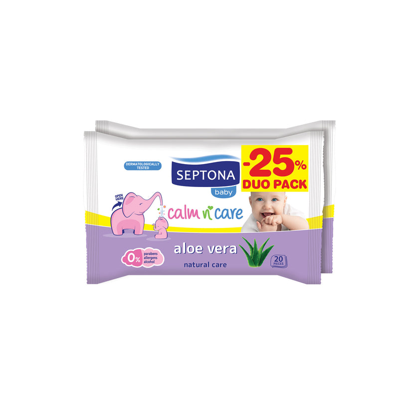 Septona Baby Wipes Aloe Vera  20pcs x2 @ 25%