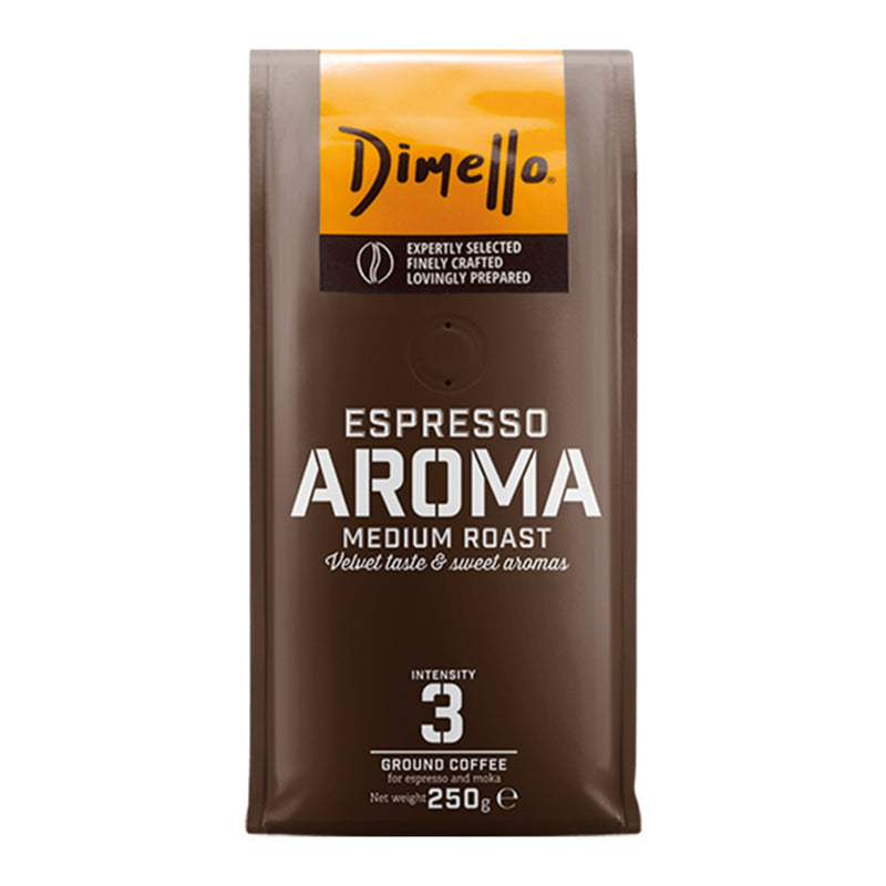 Dimello Aroma Espresso Ground Coffee Medium Roast Velvet Taste & Sweet Aromas 250g