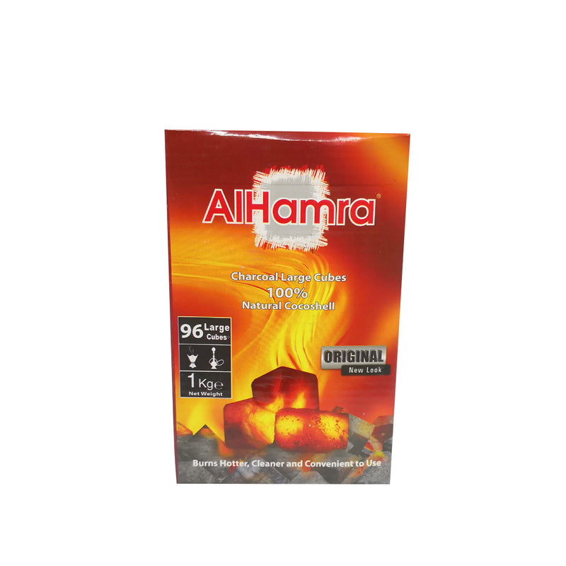 AlHamra Coal Natural Cocoa Shell 96 Large Cubes 1 kg