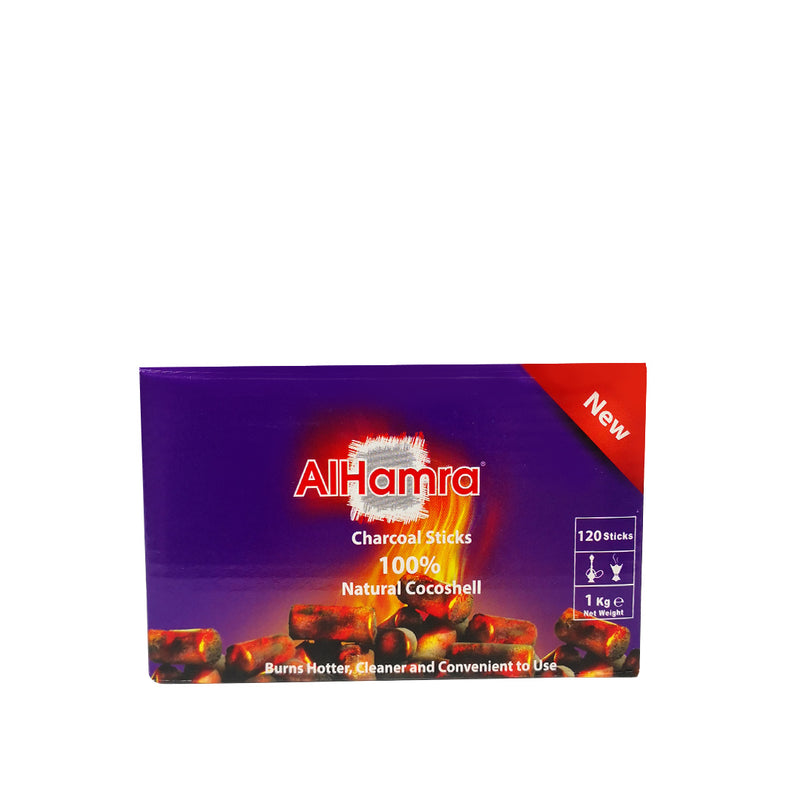 AlHamra Coal Natural Cocoa Shell 120 Sticks 1 kg