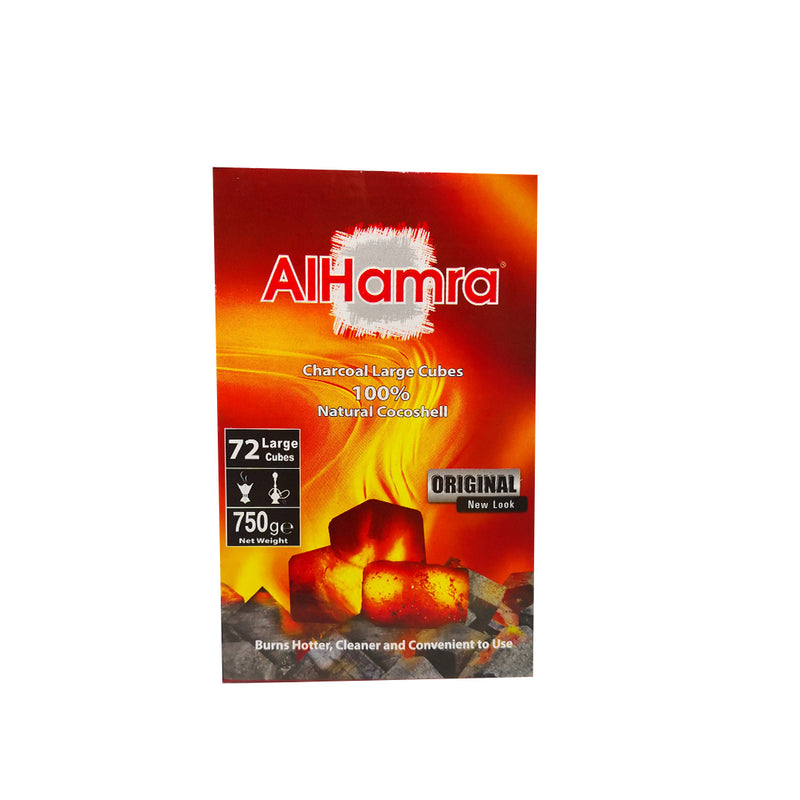 AlHamra Coal Natural Cocoa Shell 72 Large Cubes 750 g