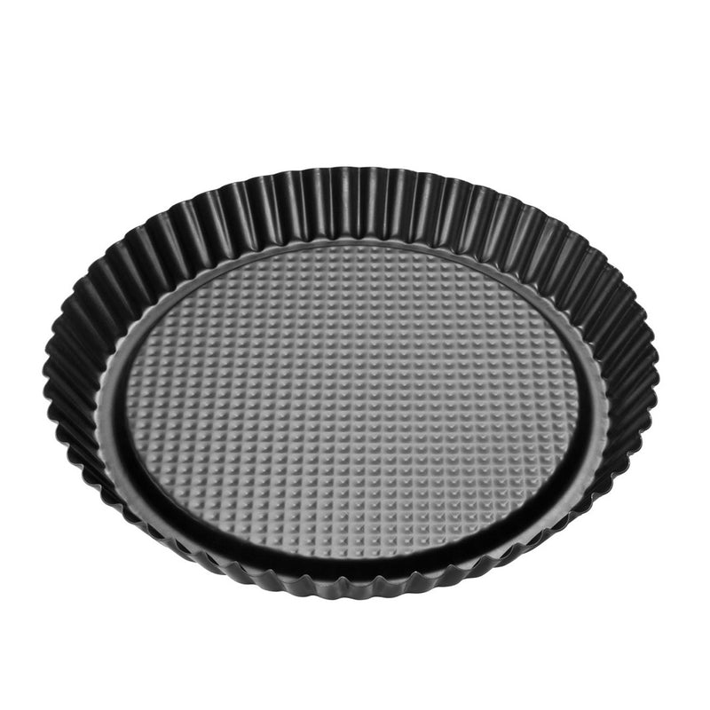 Dr. Oetker by Zenker BlackMetallic Non-Stick Carbon Steel Flan- Tart Pan