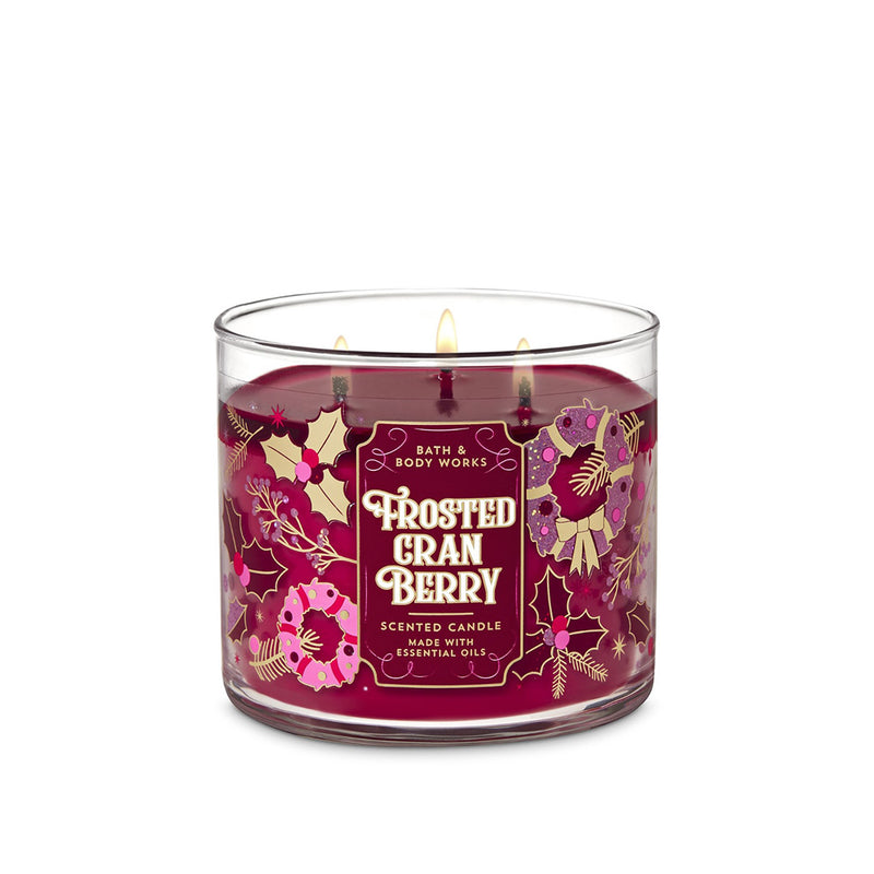 Bath & Body Works - Frosted Cranberry  3-Wick Candle 411g