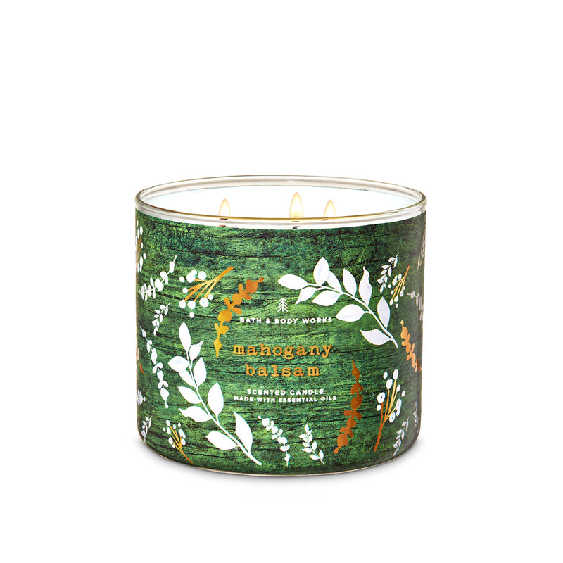 Bath & Body Works - Mahogany Balsam 3-Wick Candle 411g