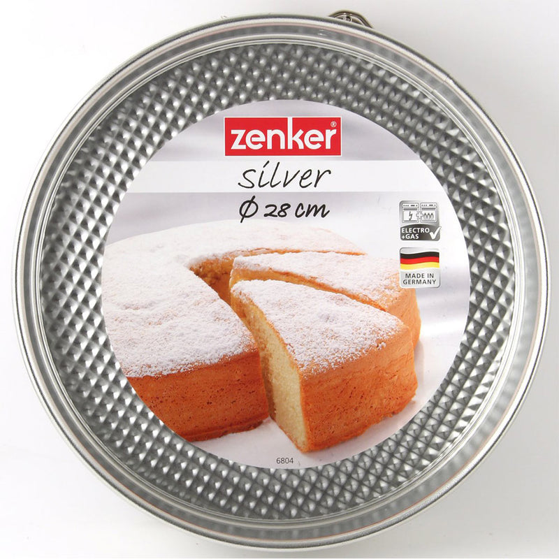 Dr. Oetker by Zenker Silver Tin Plated Steel Springform Pan