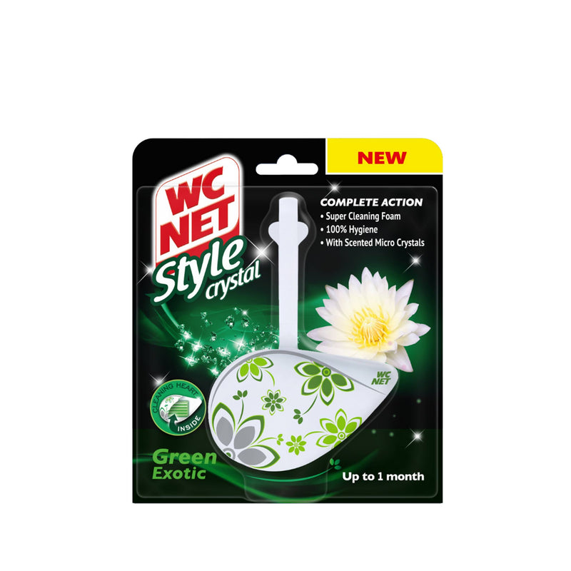WC NET Toilet Block Style Crystal Green Exotic 1pc