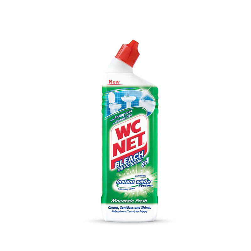 WC NET Toilet Cleaner Bleach Gel Mountain Fresh 750ml