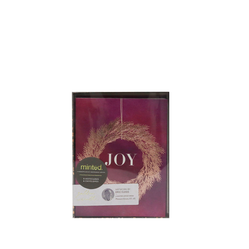 Minted Christmas Joy Greeting Cards with Envelops (8pcs)