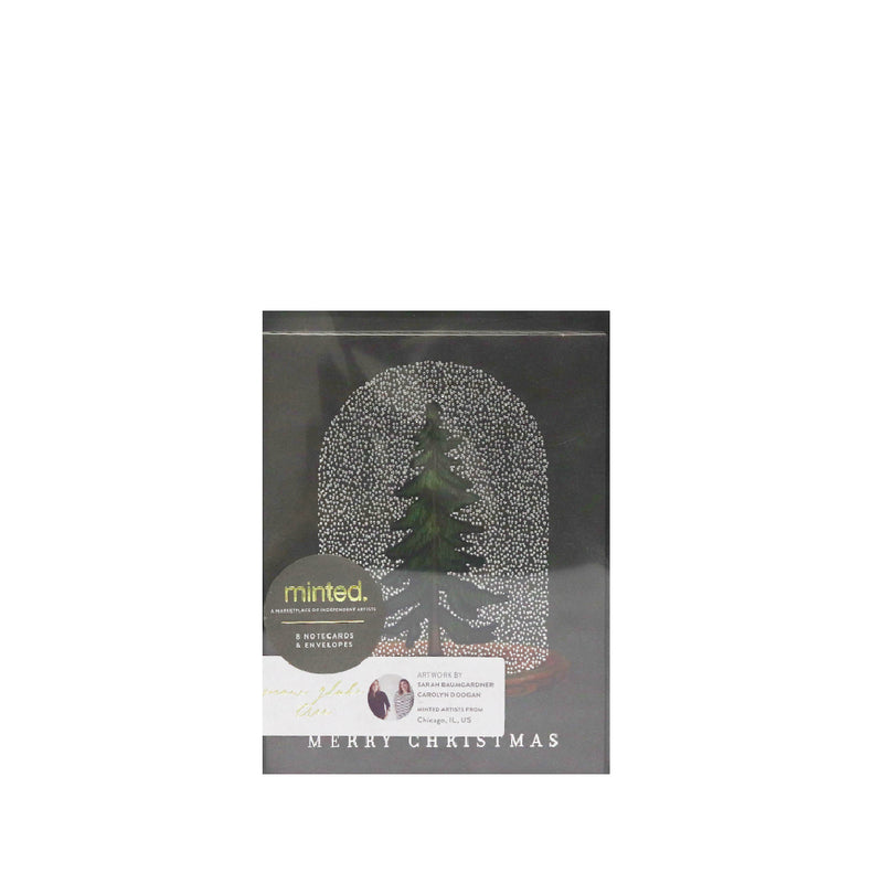 Minted Christmas Tree Greeting Cards with Envelops (8pcs)