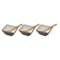 Marble Brown Decorated Serving Bowls Set with Base & Spoons 7 pcs