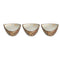 Marble Brown Decorated Serving Bowls set with Base 4 pcs