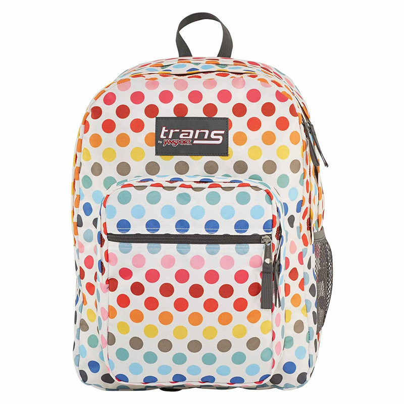 "Jansport Trans 17"" Supermax Rainbow Dot Backpack"
