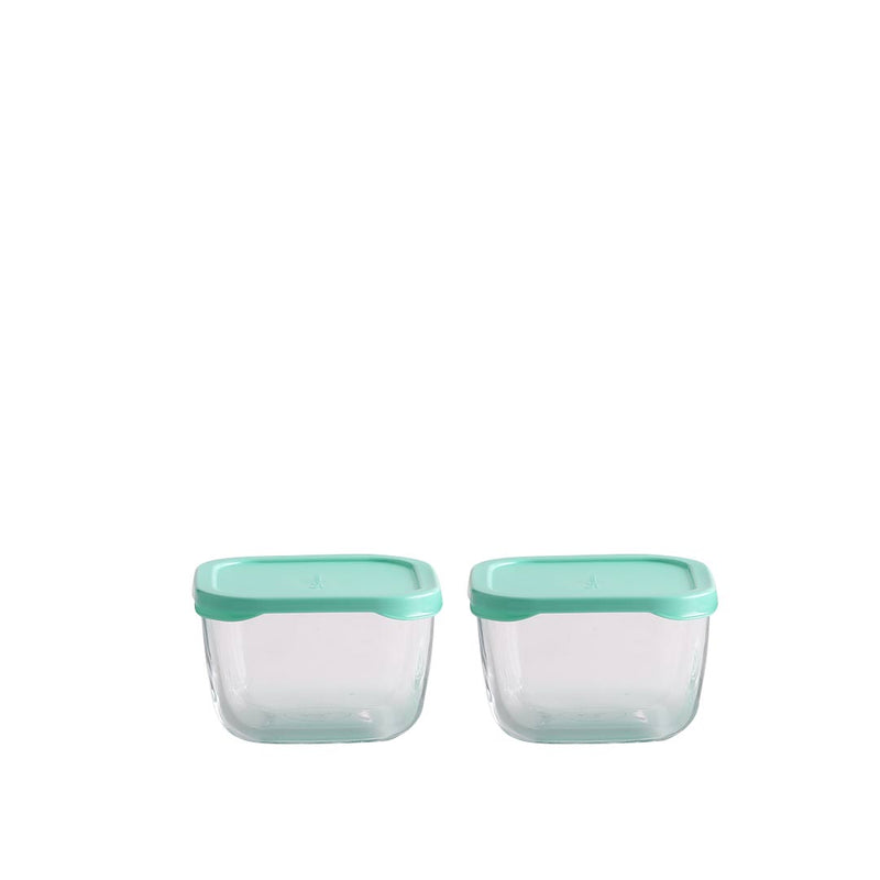 Pasabahce Green Glass Thermal Food Containers - 3 pcs
