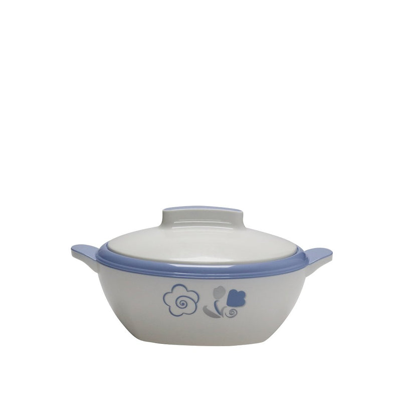 Novecento Plus White-Blue Thermal Food Container 0.75 L
