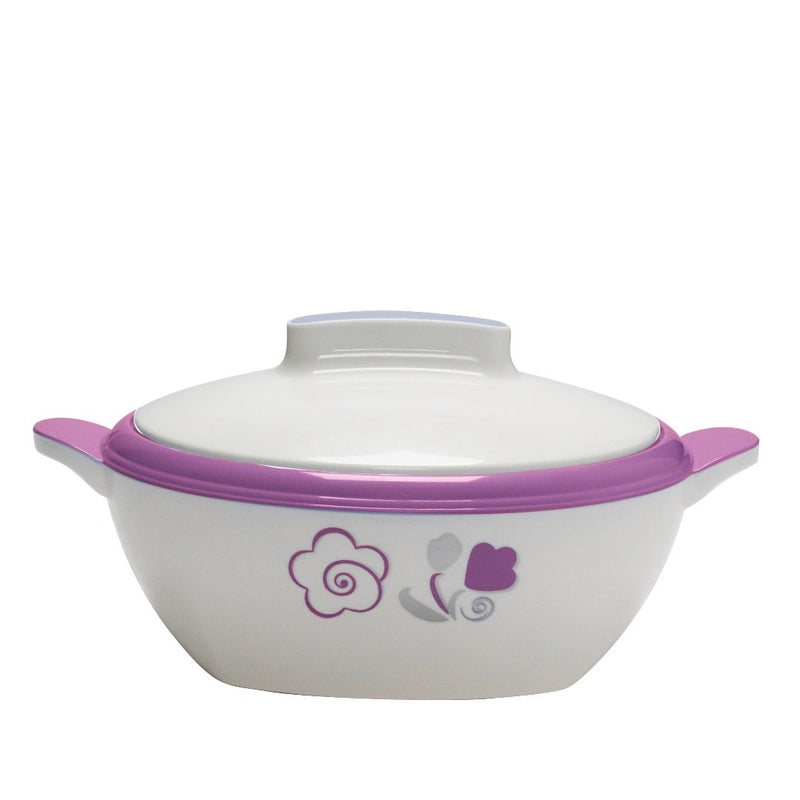 Novecento Plus White-Purple Thermal Food Container 1.8 L