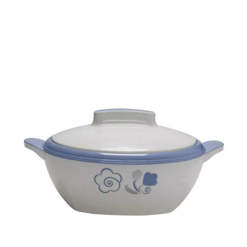 Novecento Plus White-Aqua Blue Thermal Food Container 1.8 L