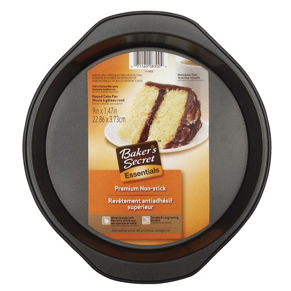 Bakers Secret Essentials Black Cake Pan Bakeware Steel