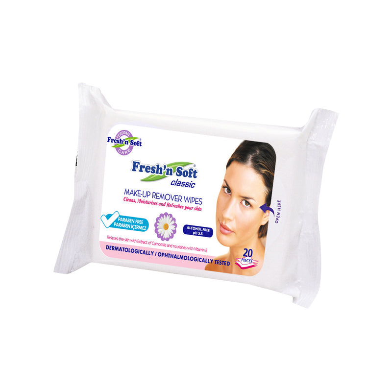 Fresh'n Soft Makeup Remover Wipes 20 Sheets-All Skin Types